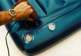 Inflating an air mattress